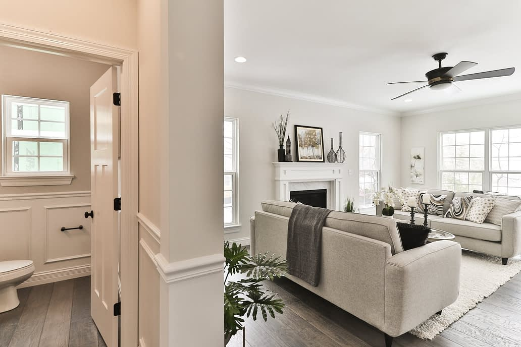 Beautiful interior of house. Selling a home in the spring